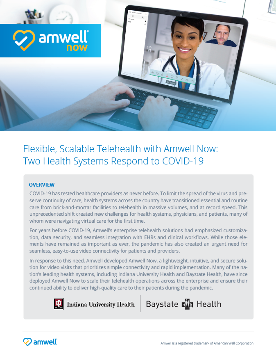 Flexible, Scalable Telehealth with Amwell Now - Margo Vieceli